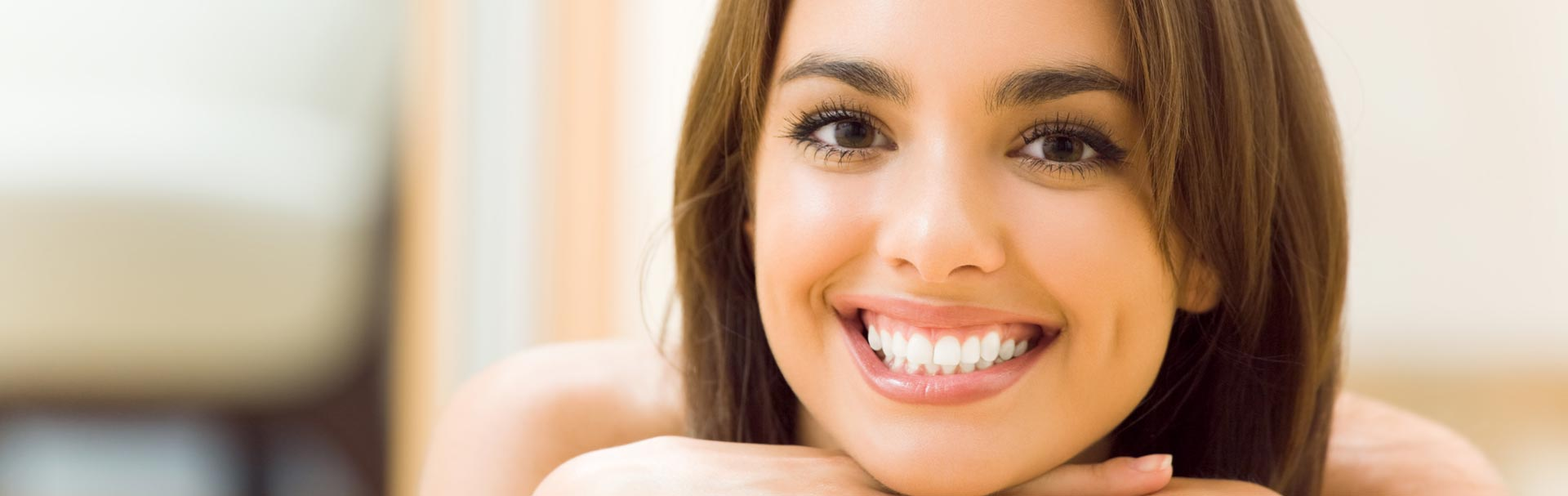 Beautiful smile after having cosmetic dentistry treatment