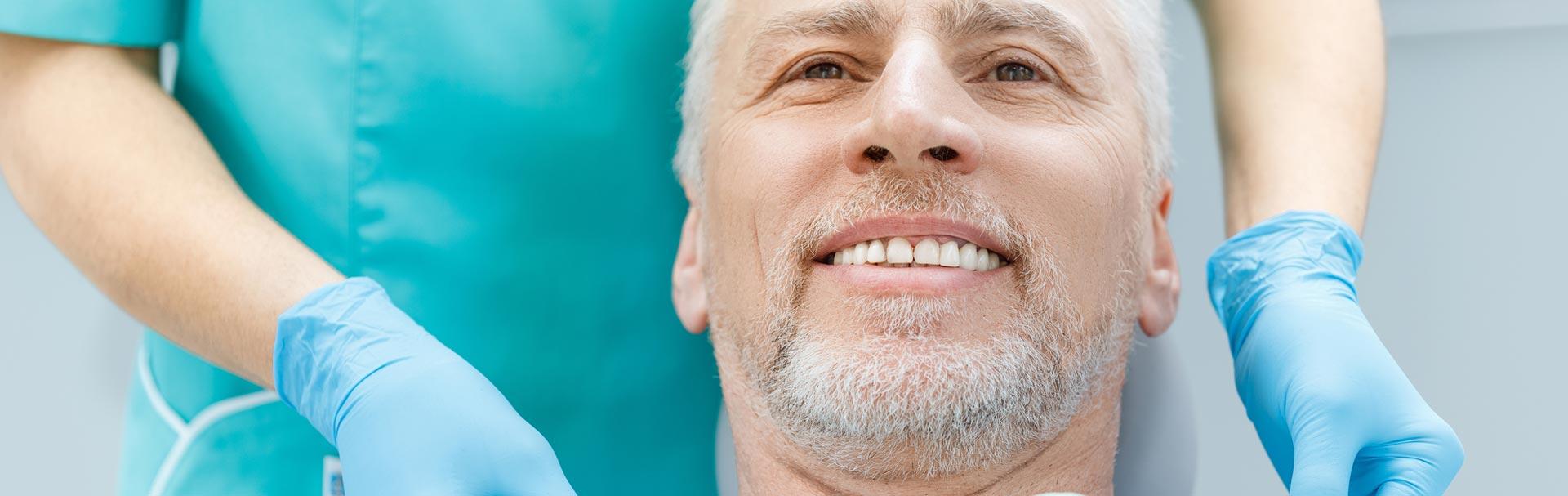 Man ready for ceramic Implants treatment
