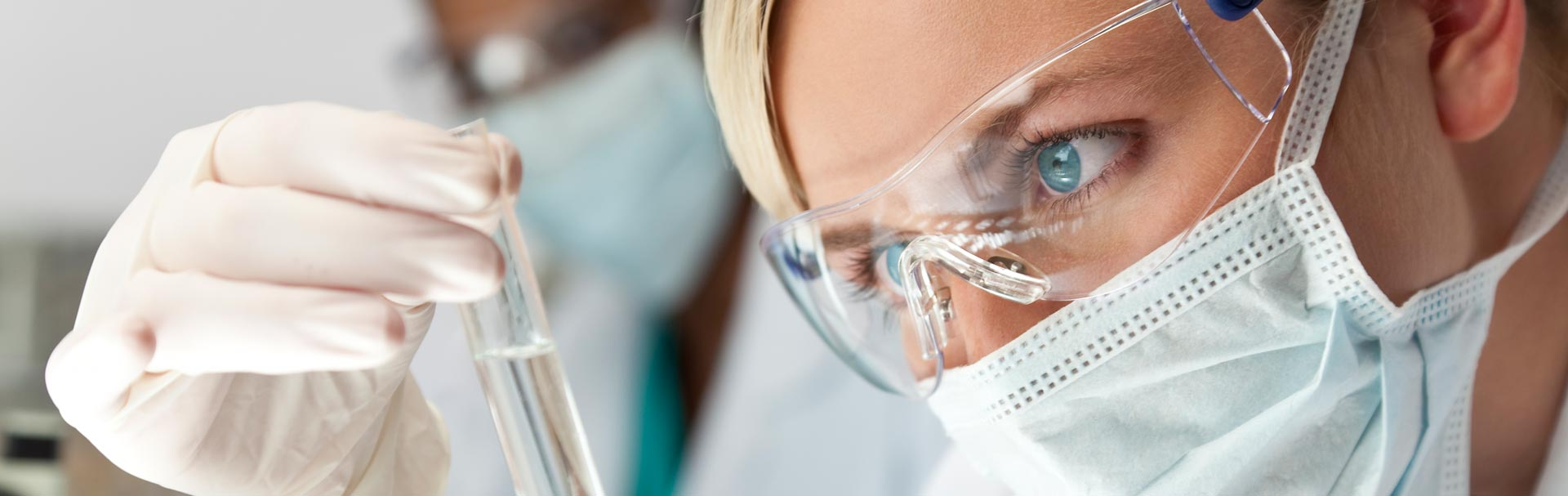 Dentist doing biocompatibility testing